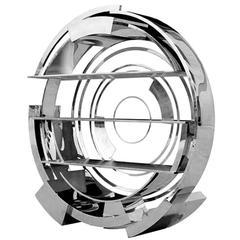 Round Steel Shelf Polished