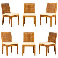 Set of Six Dining Chairs by Billy Baldwin for Bielecky Brothers