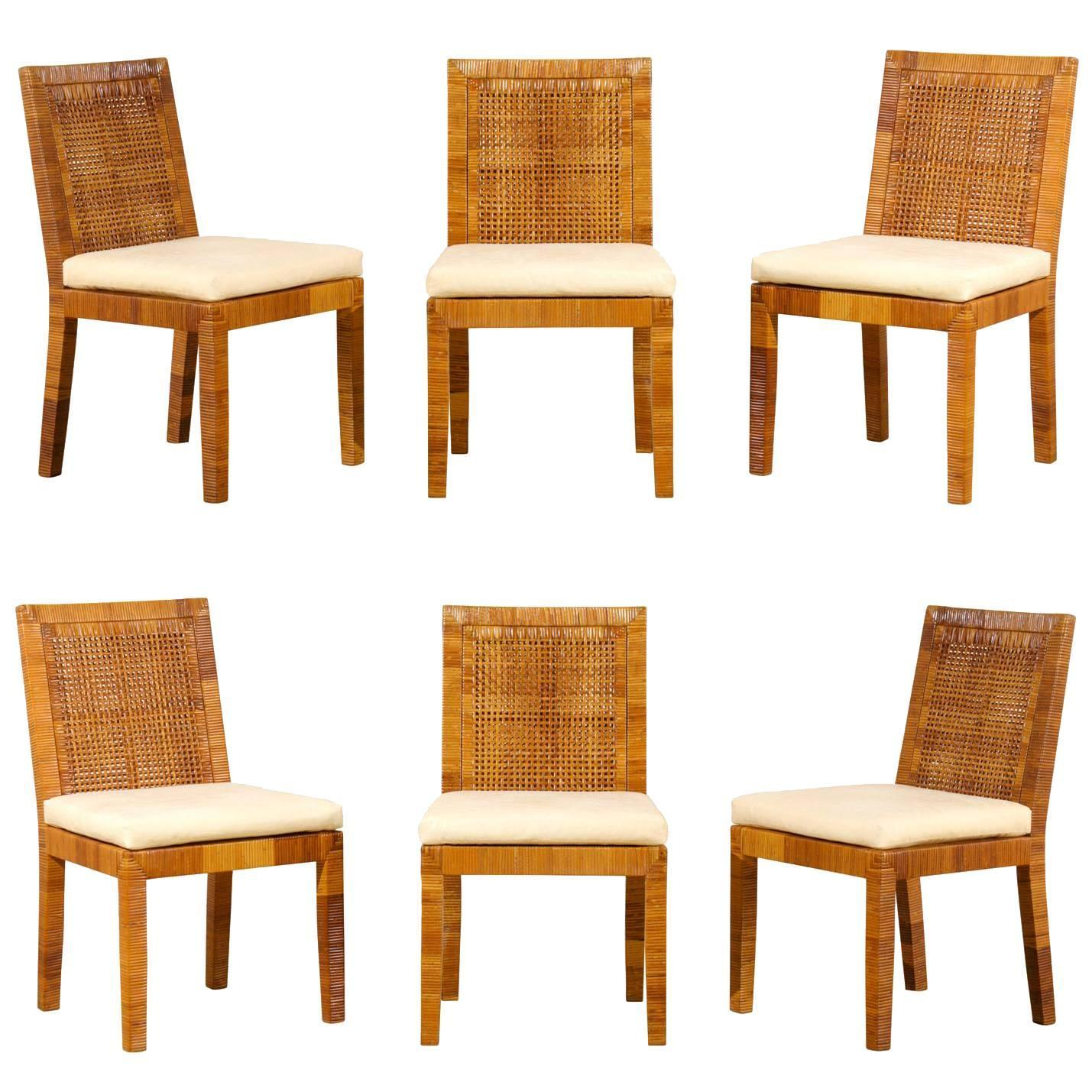 Superb Set Of Six Dining Chairs By Billy Baldwin For Bielecky Brothers At 1stdibs