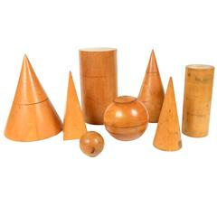 Collection of Eight Geometric Solids Made in the 1930s