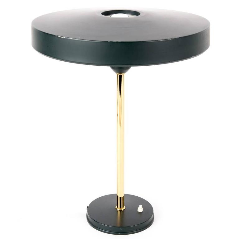 Louis Kalff copper desk lamp for Dutch Philips