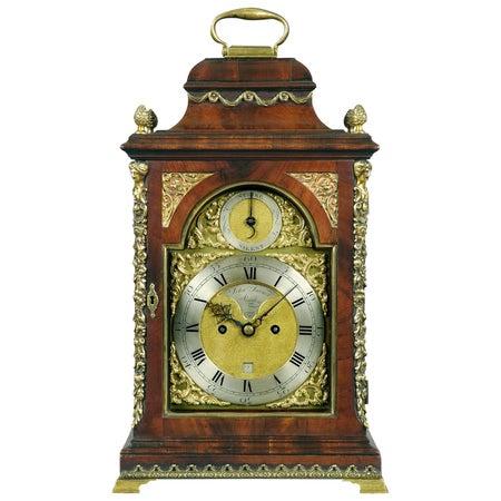 George III mahogany and brass-mounted bracket clock by John Turner, London