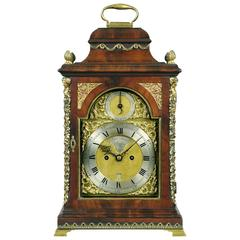 George III mahogany and brass-mounted bracket clock by John Turner, London