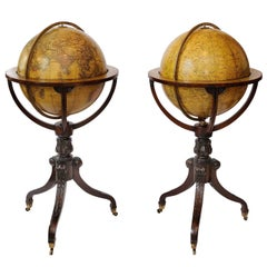 Pair of early 19th Century Regency Globe Stands, circa 1820