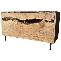 Live-Edge Ambrosia Maple Sideboard, Daniel Oates, USA