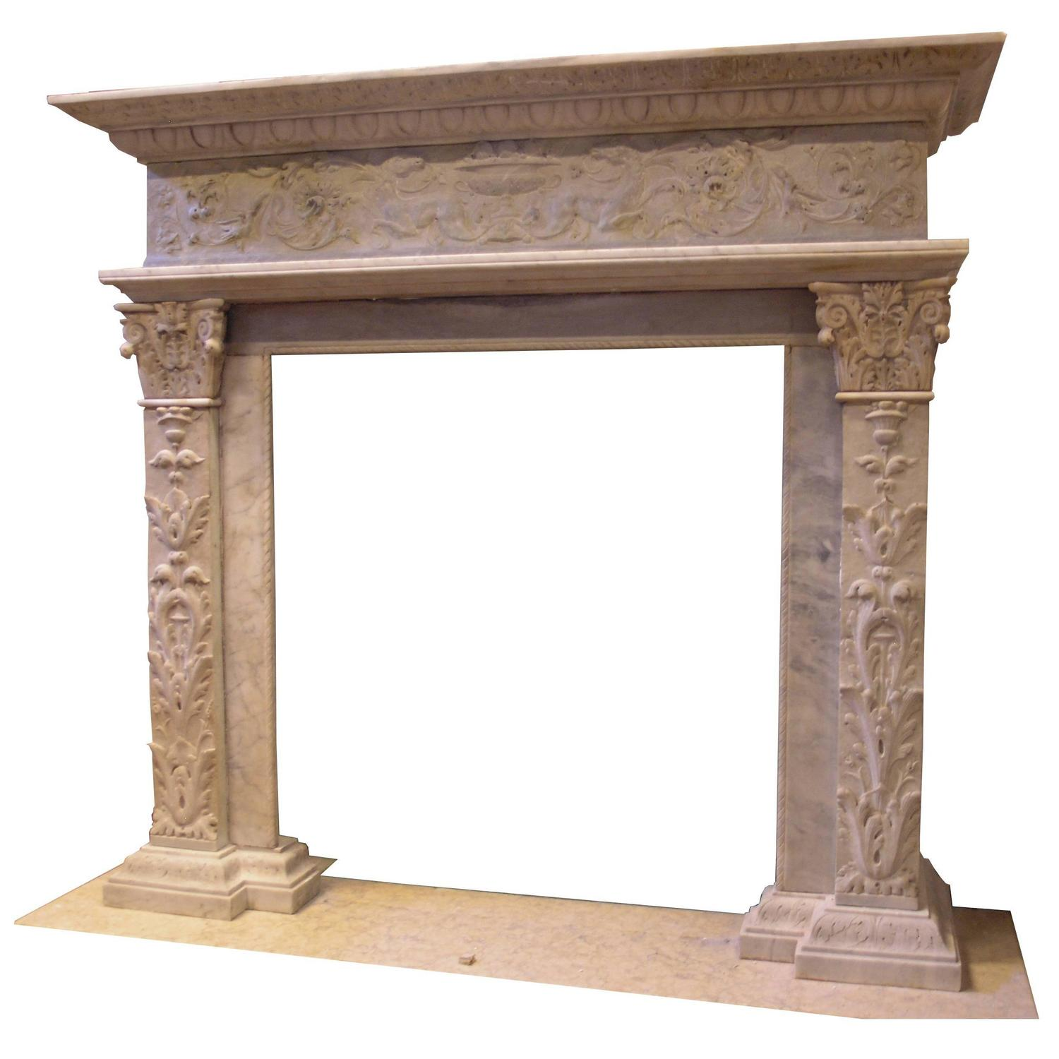 antique marble fireplace mantel at 1stdibs