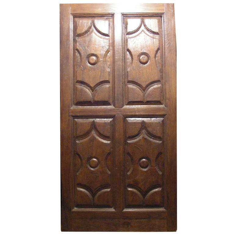 Antique Oak Entry Door