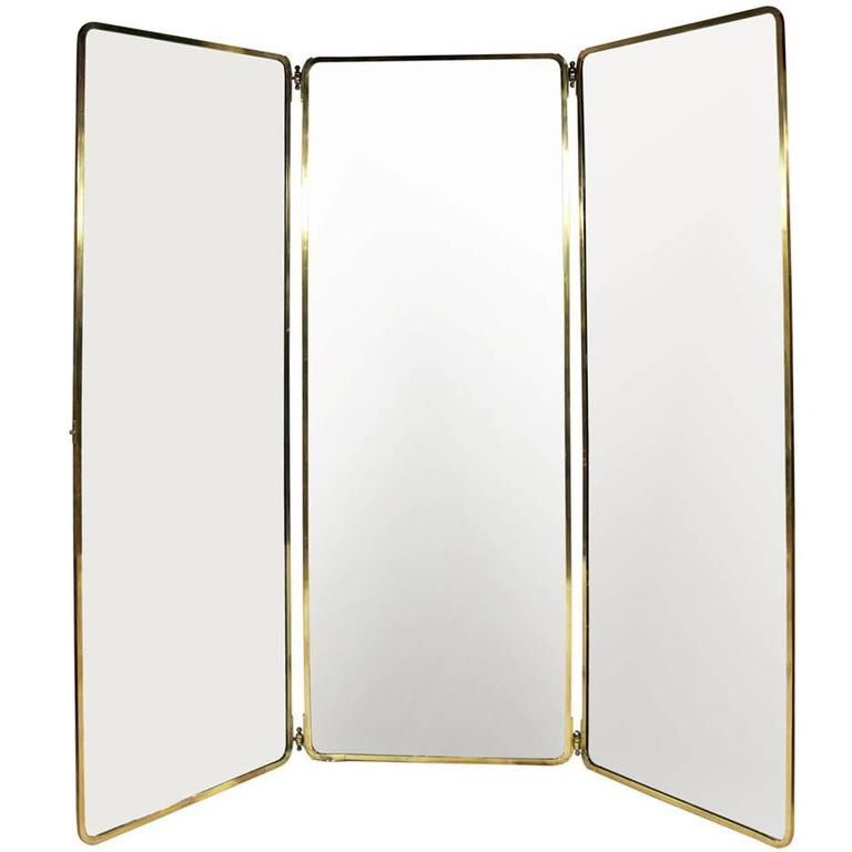 1930s full length brass folding mirror for sale at 1stdibs for Floor length mirror for sale