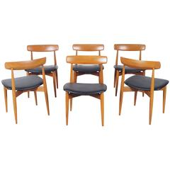 Danish Teak Dining Chairs by H.W. Klein