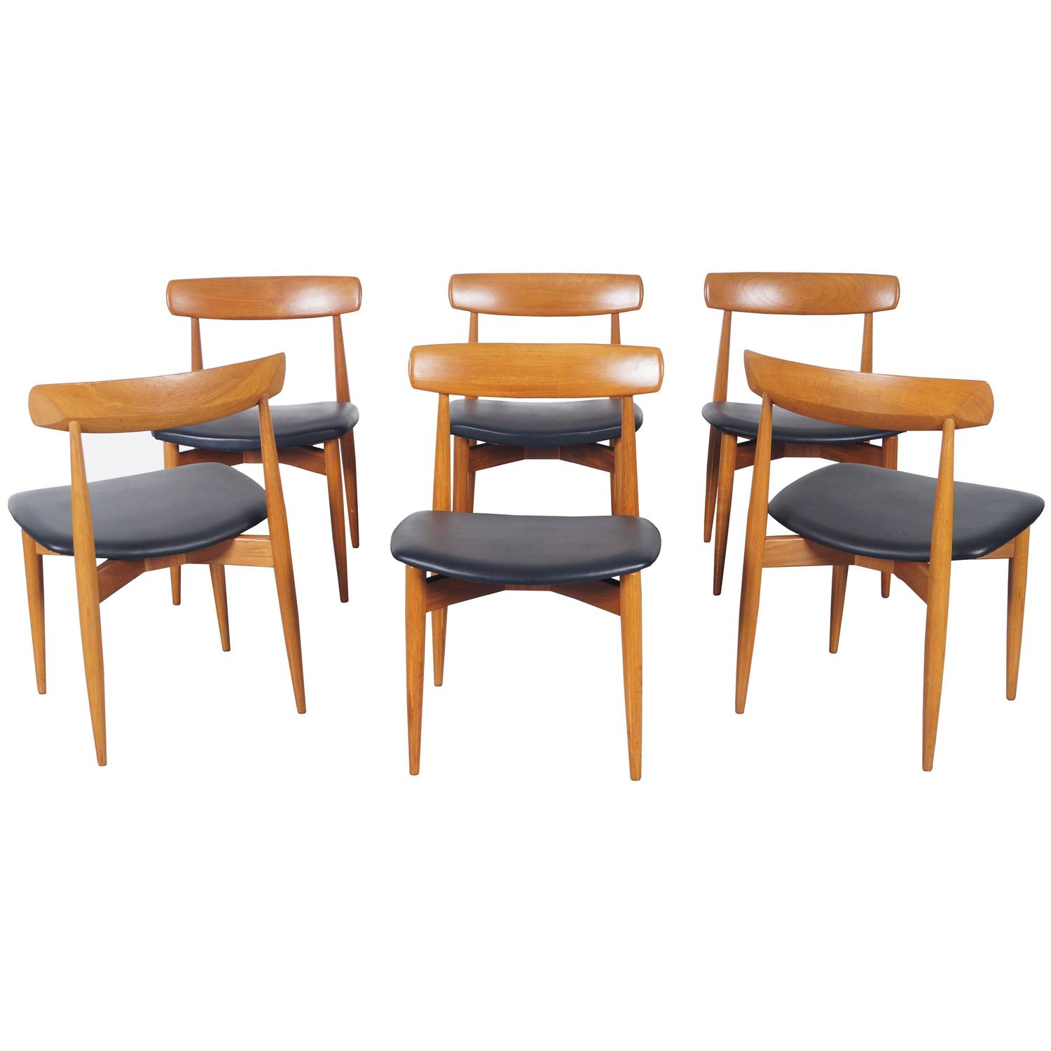 Danish teak dining chairs by h w klein for sale at stdibs
