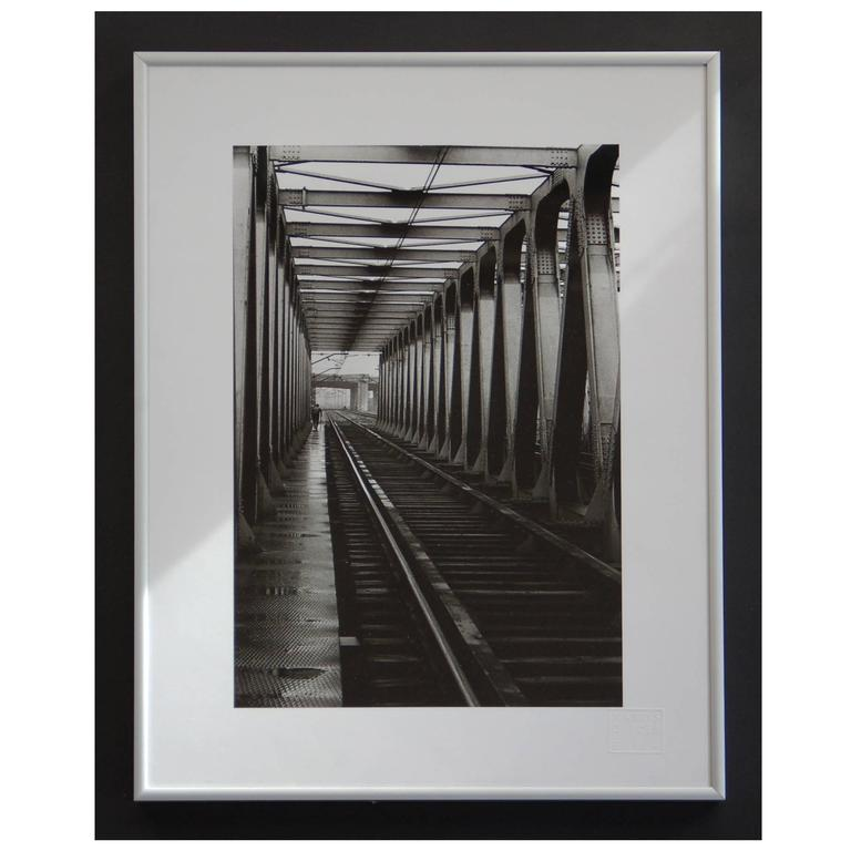 Black and White 1960s Photography, Railway Bridge