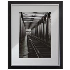 Black and White 1960s Photography, Railway Bridge