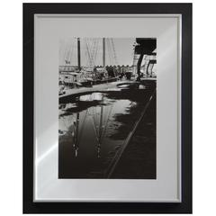 Black and White 1960s Photography, Boat Reflections