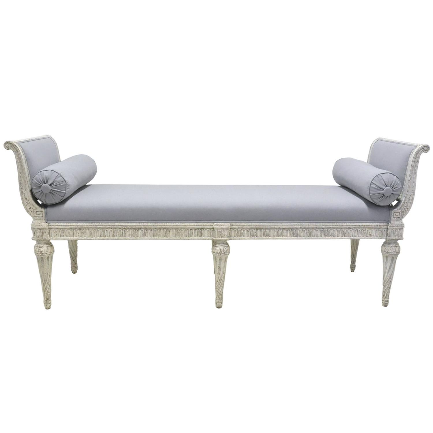 19th Century Louis Philippe Painted Banquette Bench Settee At 1stdibs