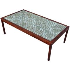 Excellent Danish Tile and Rosewood Coffee Table