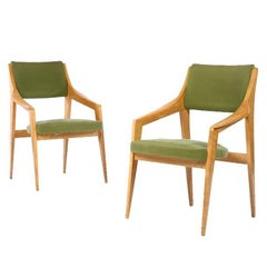 Pair of Italian Cantilevered Armchairs, 1950