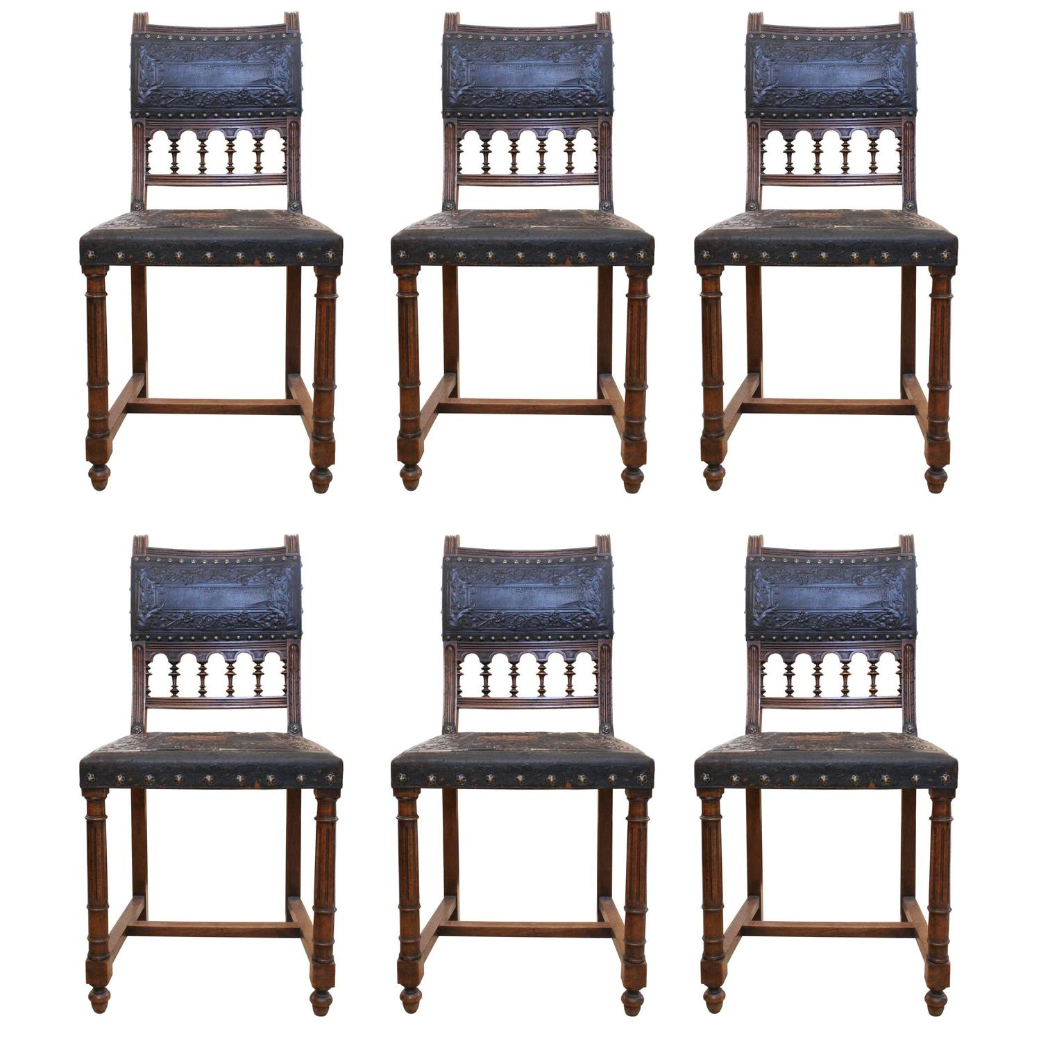 Colonial Dining Room Furniture: 19th Century Spanish Colonial Style Carved Wood And