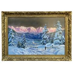 """Fresh Tyrol Powder"" Painting by Alois Arnegger"