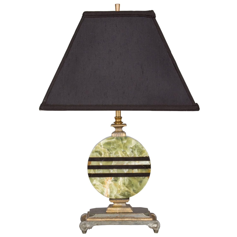 art deco onyx lamp for sale at 1stdibs. Black Bedroom Furniture Sets. Home Design Ideas