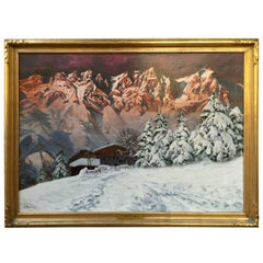 """Tyrol Sunrise"" Painting by Alois Arnegger"