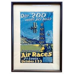 """Vintage """"Air Races"""" Poster St Louis"""