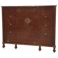 French Art Deco Signed Jules Leleu Cabinet
