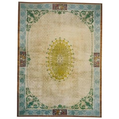 Chinese Art Deco Rug Influenced by 18th Century European Architecture