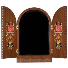 """Bavaria Triptych Mirror"" in Marquetry Wood by Studio Job"