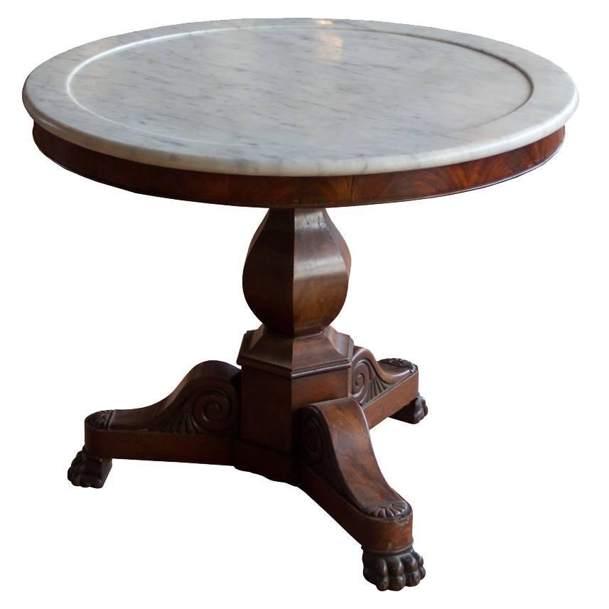 Antique French Marble-Topped Gueridon At 1stdibs