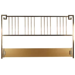 Brass King-Size Headboard by Mastercraft