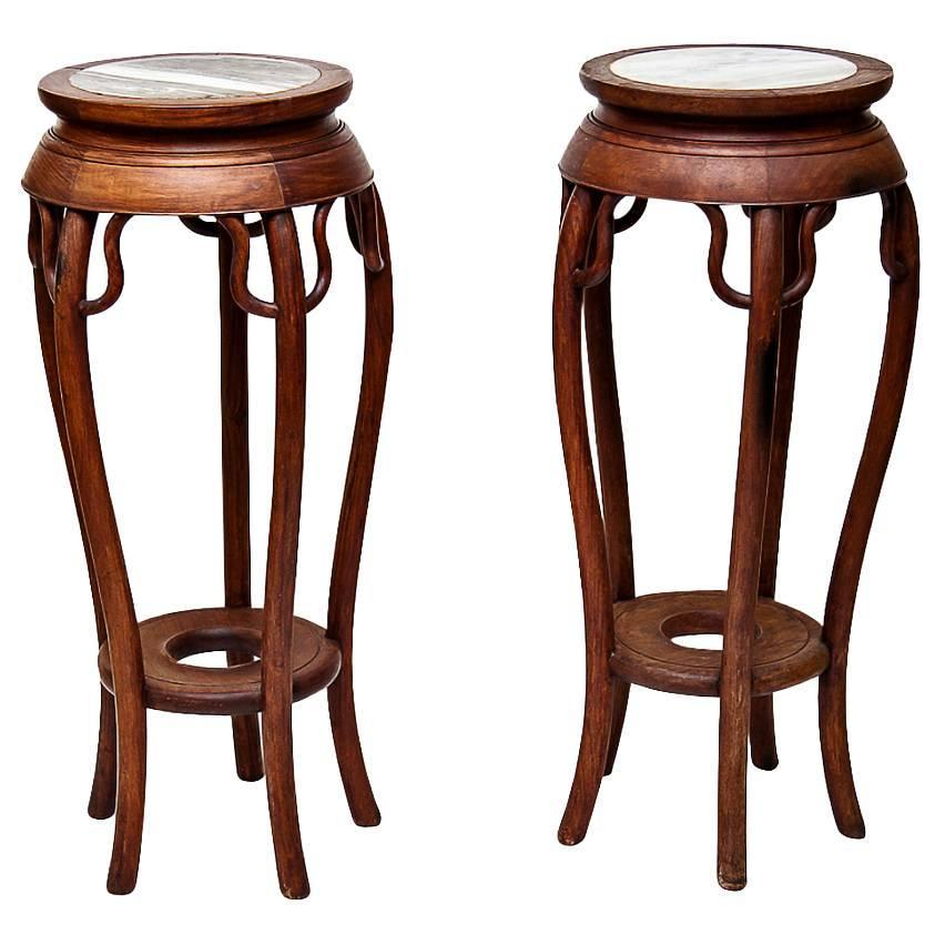 Pair of Chinese Tall Teak Stands at 1stdibs : 10482942214737920150124147551gd7nz9orgz from www.1stdibs.com size 843 x 843 jpeg 64kB