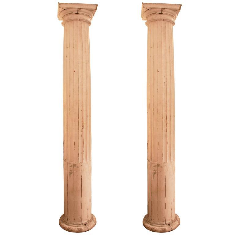 Pair Of Antique Italian Columns At 1stdibs