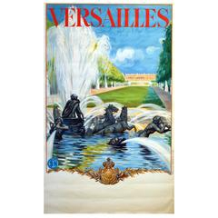 "Original 1930s SNCF French Railways Poster ""Versailles"" by Maurice Milliere"