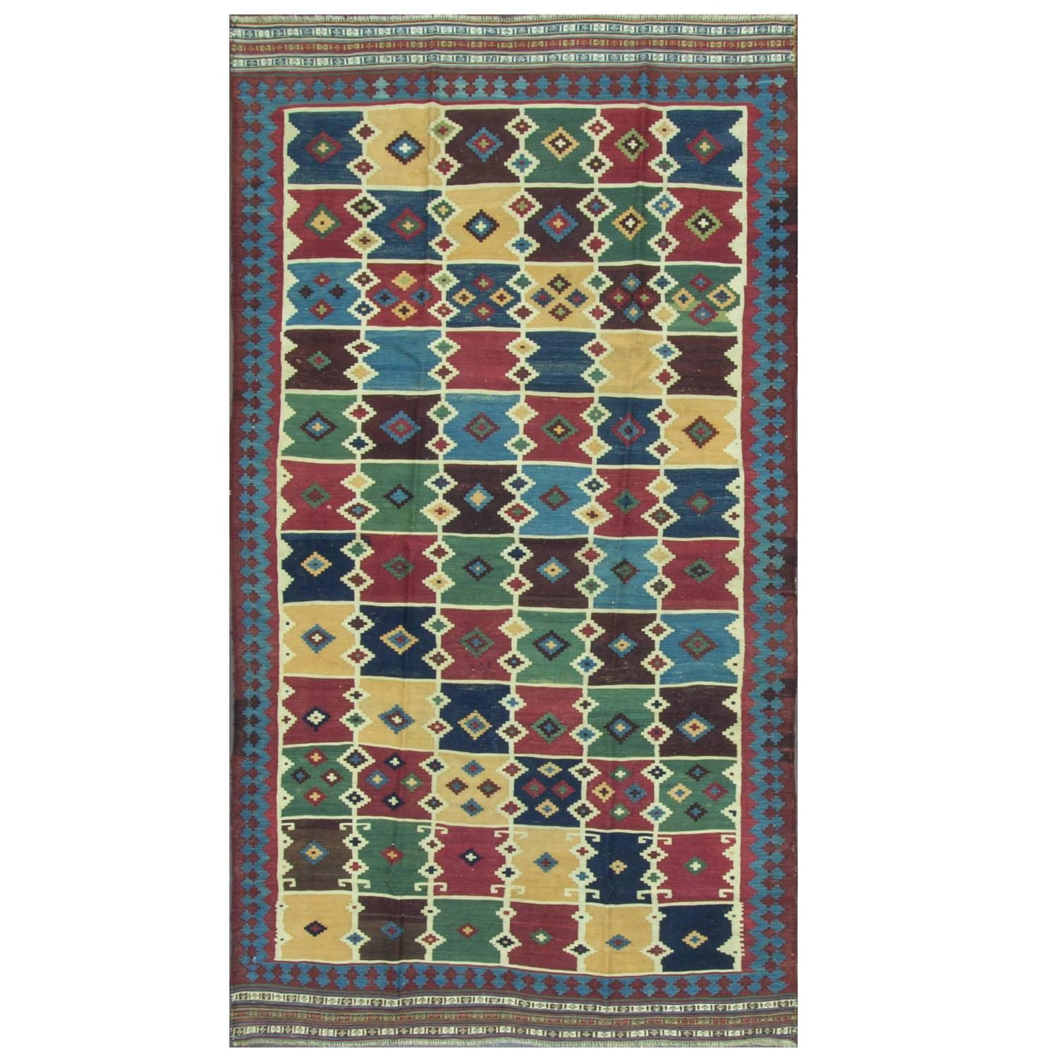 Unique Qashqai Kilim For Sale At 1stdibs