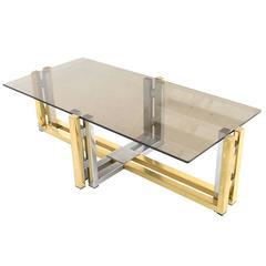 BRASS & CHROME COFFEE Table