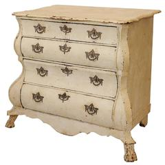 Small Dutch Baroque Oak Painted Commode Chest of Drawers, circa 1760