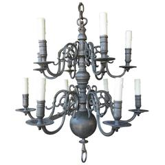 19th-20th Century Two-Tier Dutch Style Chandelier