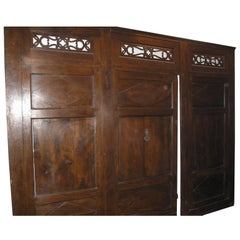 Antique Walnut Boiserie with Door