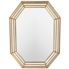 Italian Gilt Octagonal Mirror