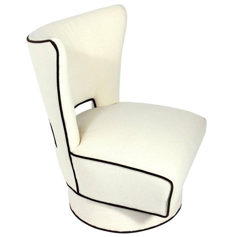Scale Modern Swivel Lounge Chair For Sale at 1stdibs