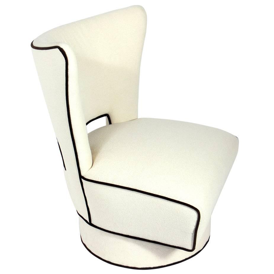 Large scale modern swivel lounge chair for sale at 1stdibs for Modern swivel chair