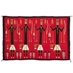 Pictorial Yei (Yeibichai) Weaving, Navajo, circa 1930