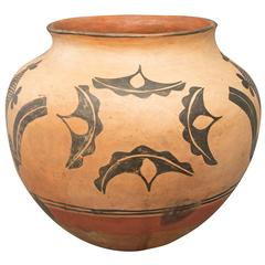 Large Antique Native American Pottery Jar, Santo Domingo Pueblo, circa 1900