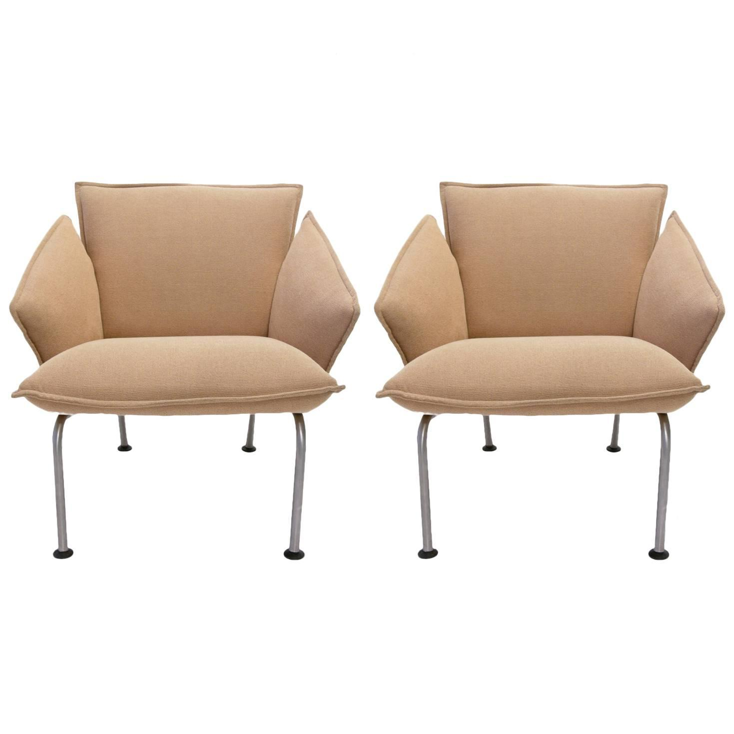 "Pair of ""Vicolounge"" Chairs by Vico Magistretti for Fritz Hansen"