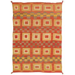 Antique Native American Transitional Blanket, Navajo Textile, circa 1900