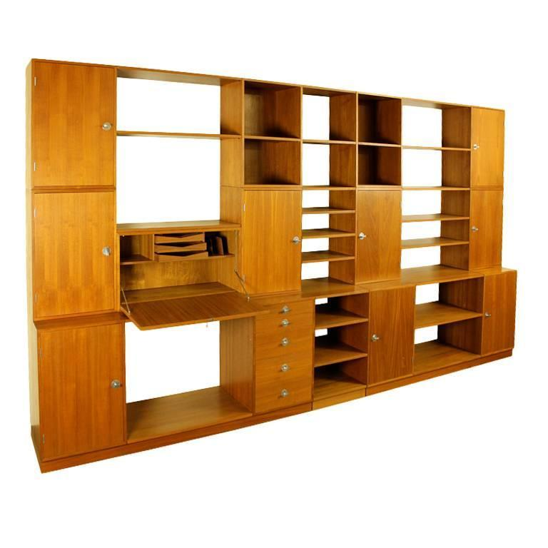Rare Danish Modern Free Standing Wall System Designed By