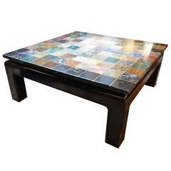 Italian hundred-tile coffee table