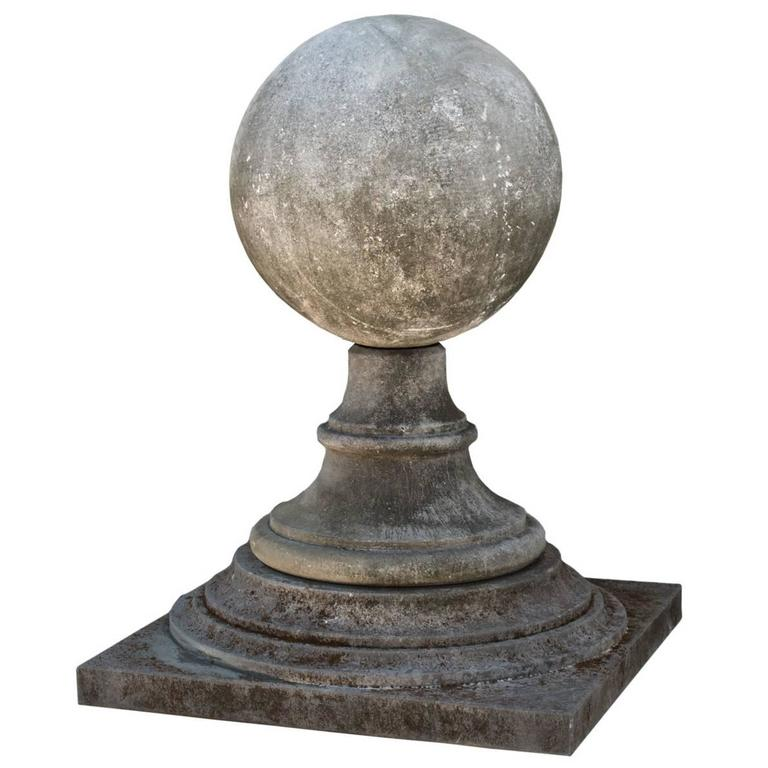 Late 20th Century French Limestone Garden Finial