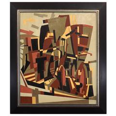 Hugo Mohl 'Der Heilige Rock, Trier' Midcentury Abstract Painting, 1960