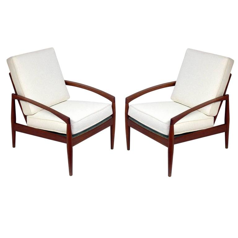 Pair Of Danish Modern Lounge Chairs By Kai Kristiansen At 1stdibs